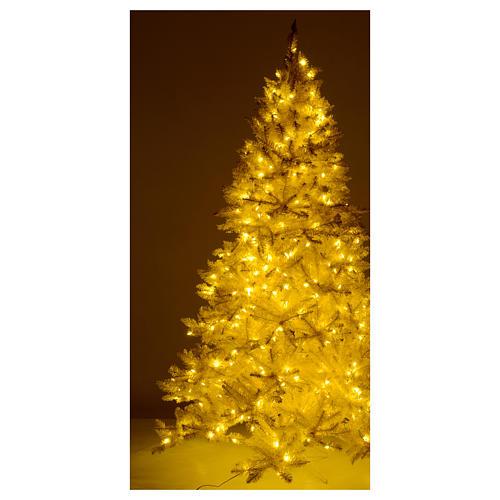 Albero di Natale 200 cm avorio 400 luci led glitter oro Regal Ivory 5