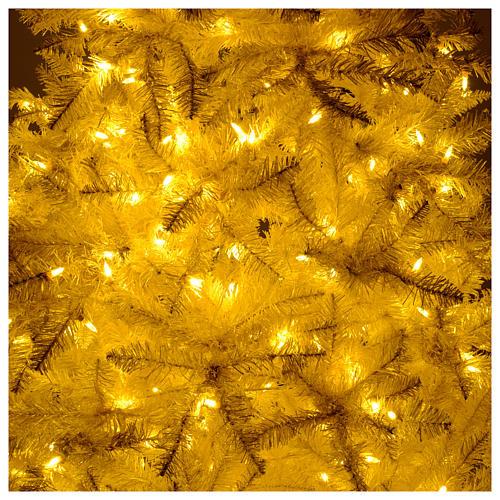 Albero di Natale 200 cm avorio 400 luci led glitter oro Regal Ivory 6