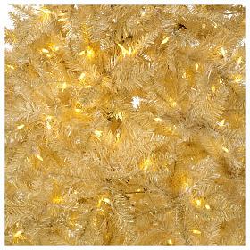 Árvore Natal 200 cm cor de marfim 400 luzes Led glitter ouro Regal Ivory s2