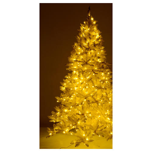 Christmas Tree 200 cm Ivory 400 LED Lights with Gold Glitter Regal Ivory 5
