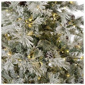 Árbol de Navidad 270 cm escarchado con piñas y purpurina 700 luces LED s2