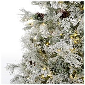 Árbol de Navidad 270 cm escarchado con piñas y purpurina 700 luces LED s3