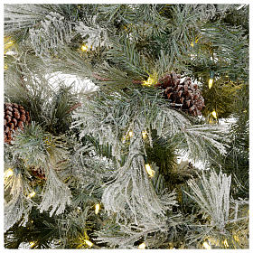 Árbol de Navidad 270 cm escarchado con piñas y purpurina 700 luces LED s4