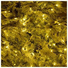 Árbol de Navidad 270 cm escarchado con piñas y purpurina 700 luces LED s6