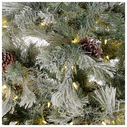 Albero di Natale 270 cm brinato pigne e brillantini 700 luci led 4