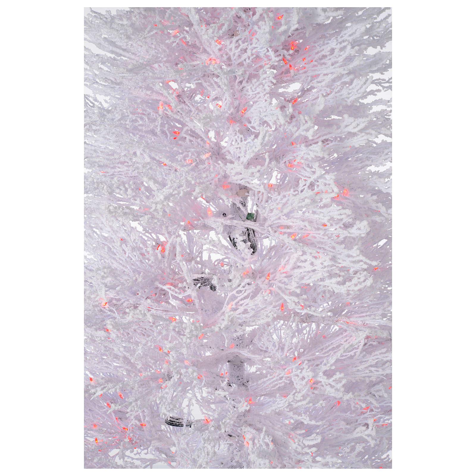 Árbol de Navidad con nieve blanco 270 cm luces rojas LED 700 modelo Winter Glamour 3