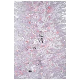 Árbol de Navidad con nieve blanco 270 cm luces rojas LED 700 modelo Winter Glamour s4