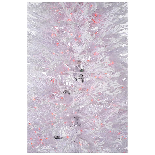 Árbol de Navidad con nieve blanco 270 cm luces rojas LED 700 modelo Winter Glamour 4
