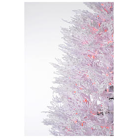 Sapin Noël enneigé blanc 270 cm led rouges 700 Winter Glamour s3