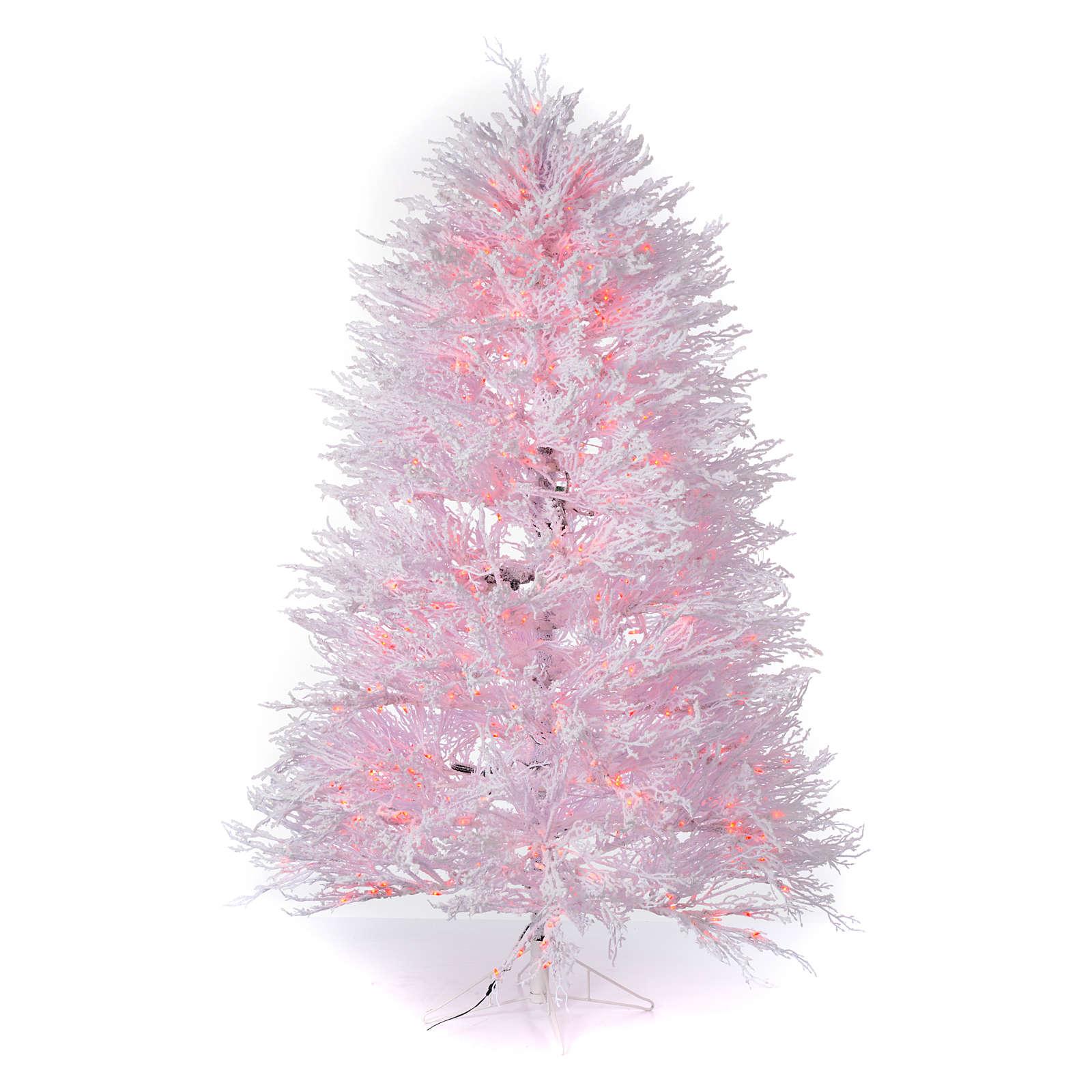 Foto Alberi Di Natale Bianchi albero di natale innevato bianco 270 cm cm luci rosse led 700 winter g.