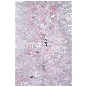 Albero di Natale innevato bianco 270 cm cm luci rosse led 700 s4