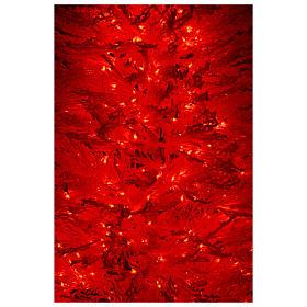Albero di Natale innevato bianco 270 cm cm luci rosse led 700 s6