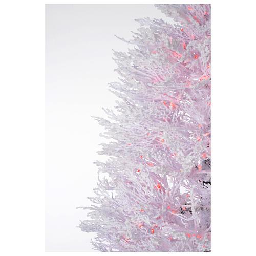 Albero di Natale innevato bianco 270 cm cm luci rosse led 700 3