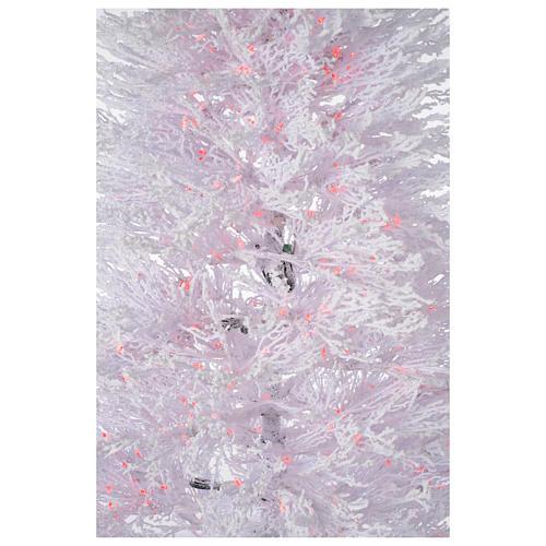 Albero di Natale innevato bianco 270 cm cm luci rosse led 700 Winter G. 4