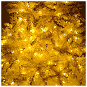 Christmas tree ivory 270 cm with gold glitter and 800 lights s6