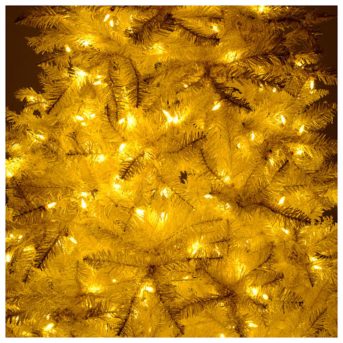 Christmas tree ivory 270 cm with gold glitter and 800 lights 6