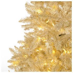Albero di Natale avorio 270 cm glitter oro 800 luci s3