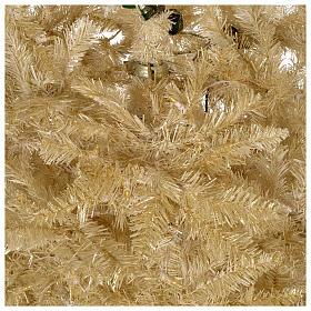 Albero di Natale avorio 270 cm glitter oro 800 luci s4
