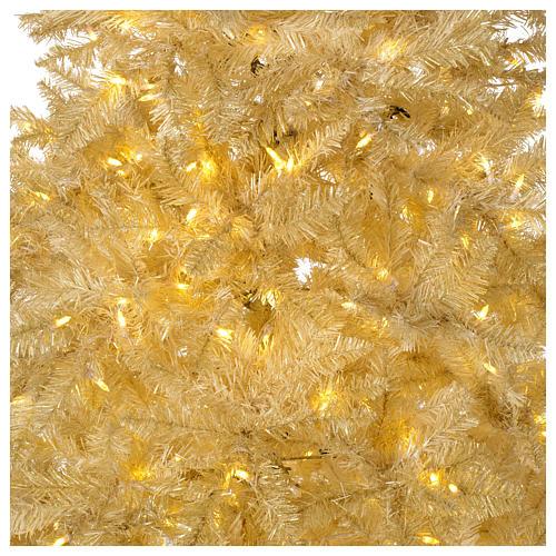 Albero di Natale avorio 270 cm glitter oro 800 luci 2