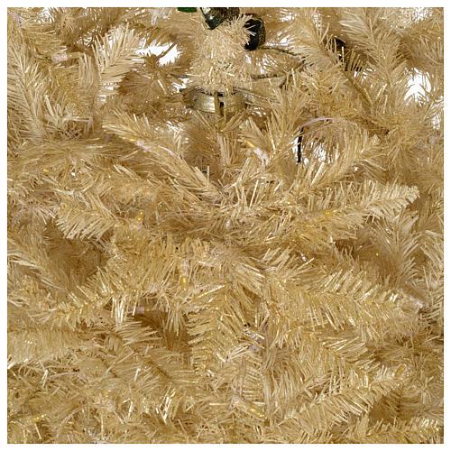 Albero di Natale avorio 270 cm glitter oro 800 luci 4