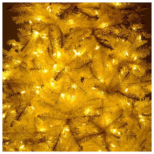 Albero di Natale avorio 270 cm glitter oro 800 luci 6