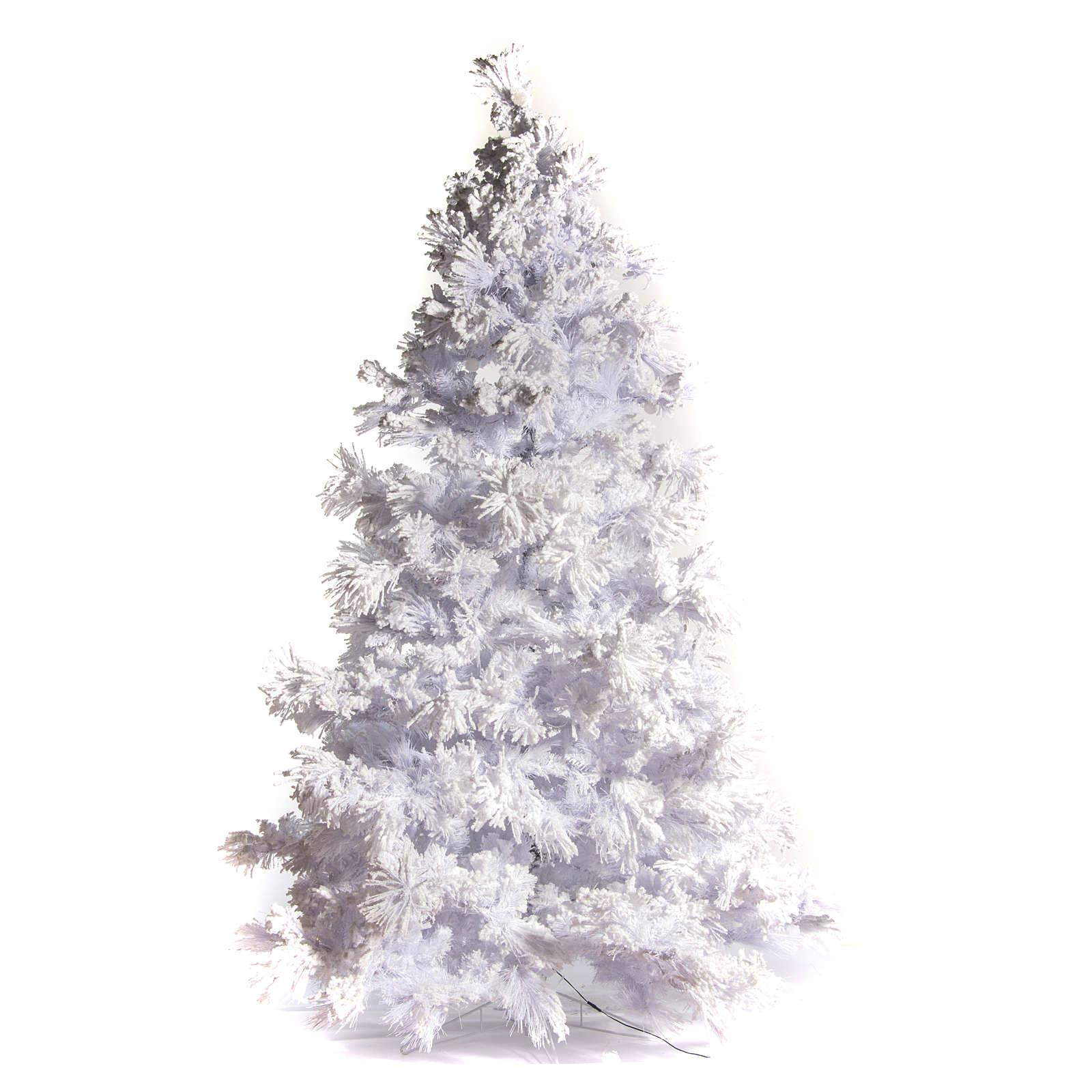 STOCK Albero di Natale bianco innevato 270 cm luci led 700 White Cloud 3