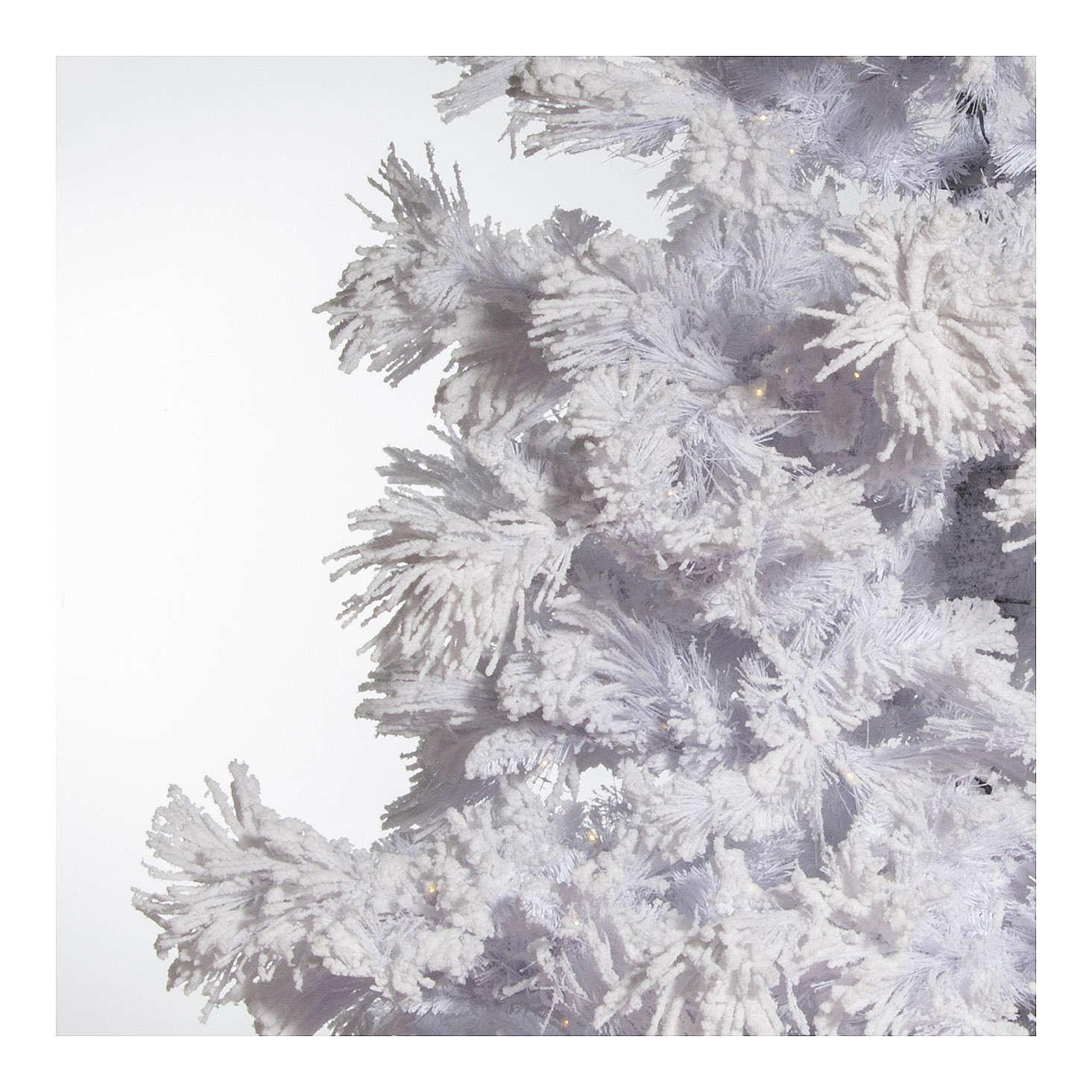 Foto Alberi Di Natale Bianchi albero di natale bianco innevato 270 cm luci led 700 white