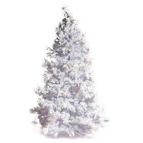 STOCK Albero di Natale bianco innevato 270 cm luci led 700 s1
