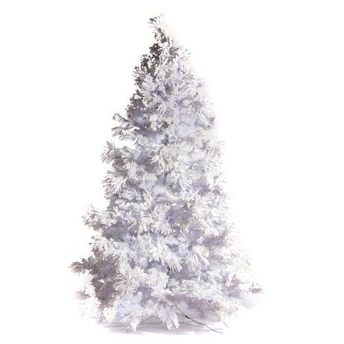 STOCK Albero di Natale bianco innevato 270 cm luci led 700 White Cloud 1