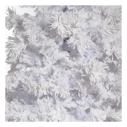 STOCK Albero di Natale bianco innevato 270 cm luci led 700 White Cloud 2
