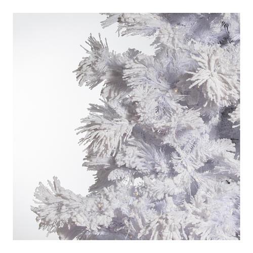 STOCK Albero di Natale bianco innevato 270 cm luci led 700 White Cloud 4