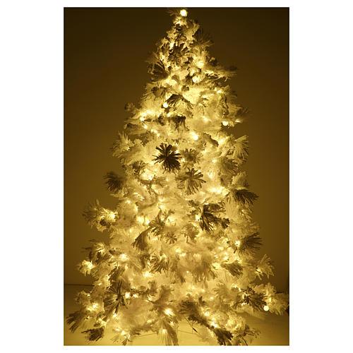 STOCK Albero di Natale bianco innevato 270 cm luci led 700 White Cloud 5