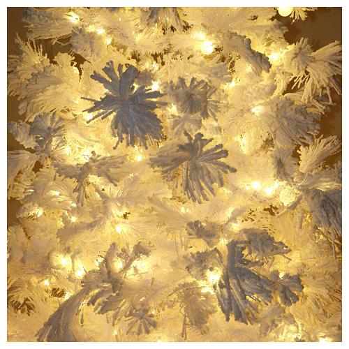 STOCK Albero di Natale bianco innevato 270 cm luci led 700 White Cloud 6