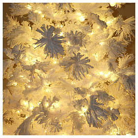 STOCK Christmas tree covered with snow 270 cm with 700 led lights s6