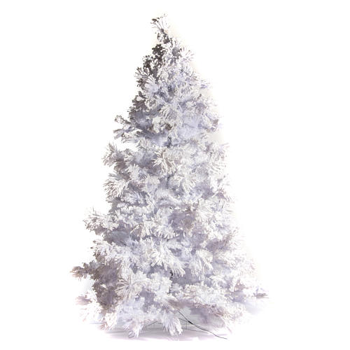 STOCK Christmas tree covered with snow 270 cm with 700 led lights 1