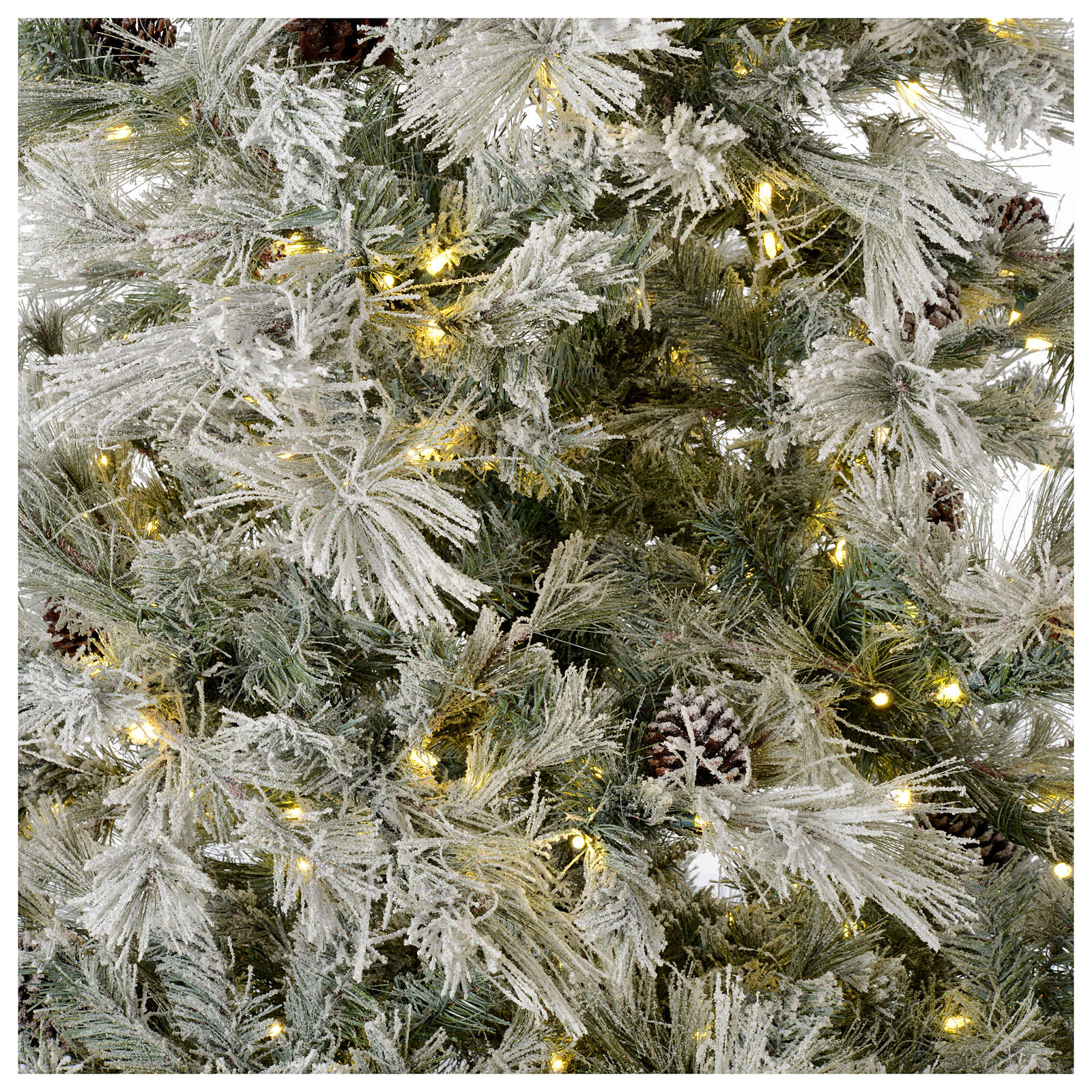 Christmas tree 200 cm green with frost and glitter 350 led lights 3