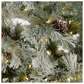Christmas tree 200 cm green with frost and glitter 350 led lights s4