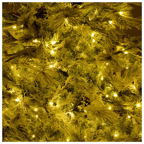 Christmas tree 200 cm green with frost and glitter 350 led lights 6