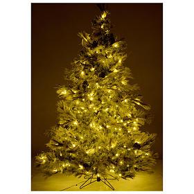 Árbol de Navidad 200 cm verde escarchado con purpurina 350 luces LED s5