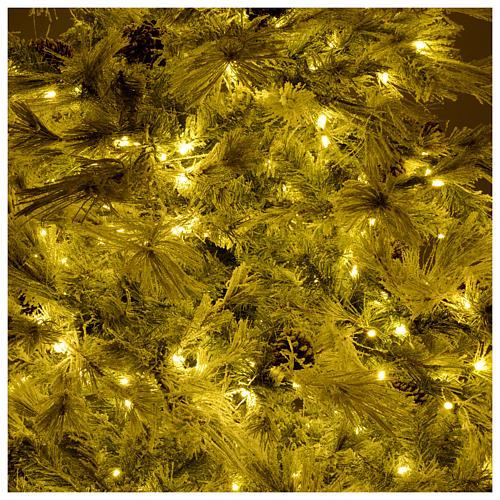 Árbol de Navidad 200 cm verde escarchado con purpurina 350 luces LED 6