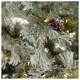 Albero di Natale 200 cm verde brinato con glitter 350 luci led F. Forest s4