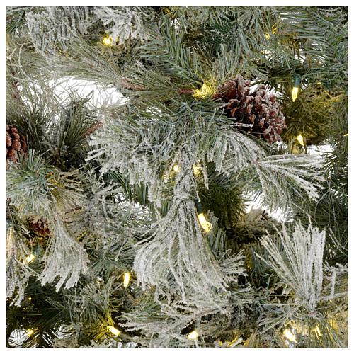 Albero di Natale 200 cm verde brinato con glitter 350 luci led F. Forest 4