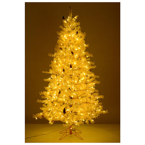 Pink Christmas Tree 200 cm frosted pine cones 300 LEDs Victorian Pink 5