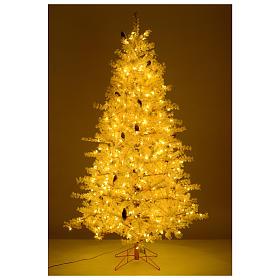 Árbol de Navidad 200 cm rosa escarchado piñas 300 luces LED s5
