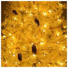 Árbol de Navidad 200 cm rosa escarchado piñas 300 luces LED s6