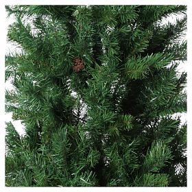 Albero di Natale verde 150 cm con pigne slim memory shape Norimberga s2