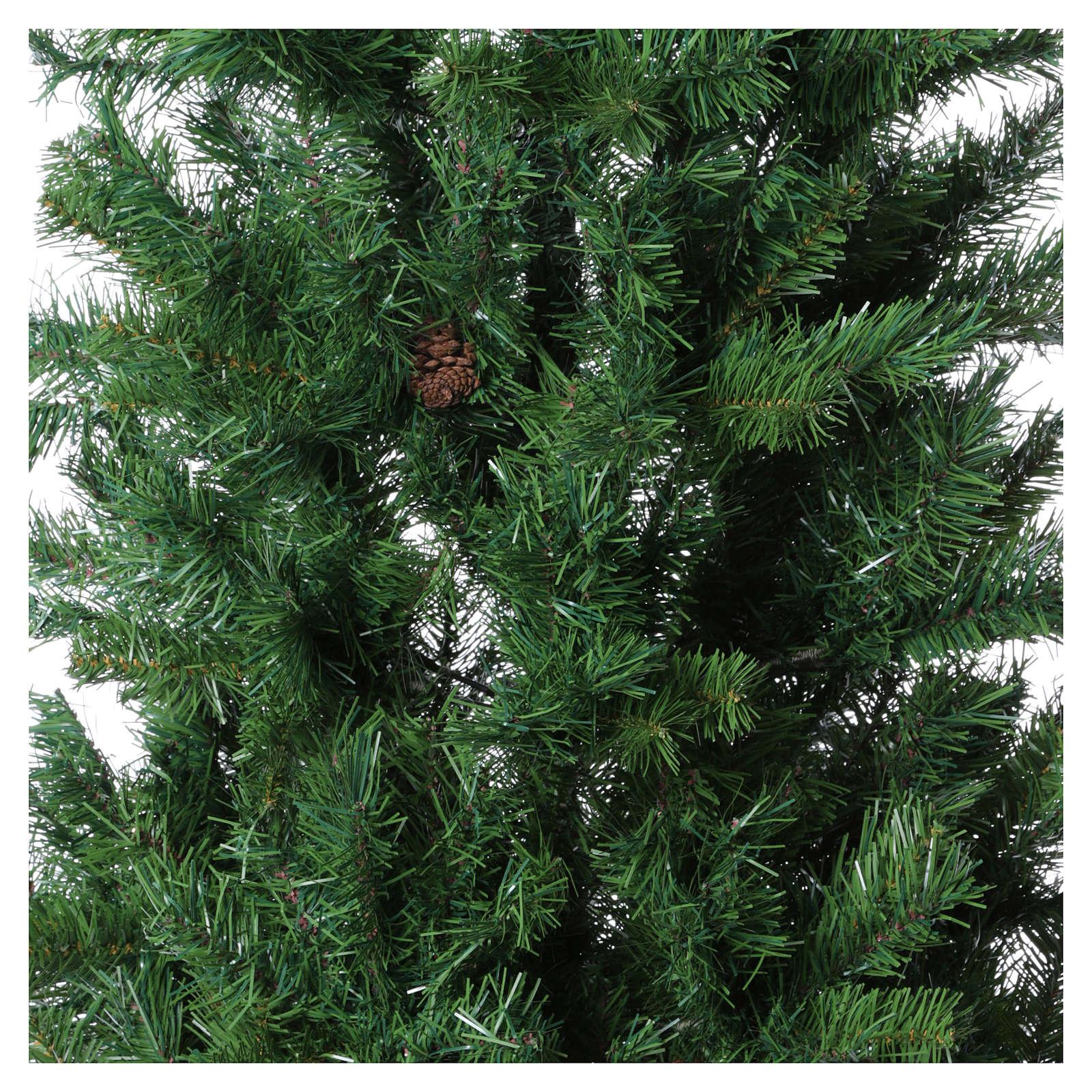 Albero di Natale verde con pigne 180 cm slim memory shape Norimberga 3