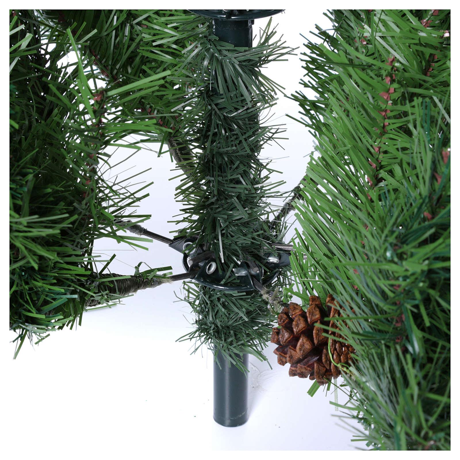 Árbol de Navidad 210 cm slim memory shape verde con piñas Nuremberg 3