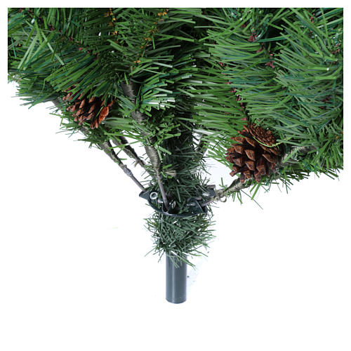 Árbol de Navidad 210 cm slim memory shape verde con piñas Nuremberg 5
