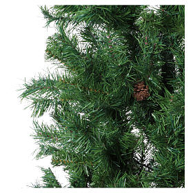 Christmas tree 210 cm slim memory shape green with Norimberga pinecones s3